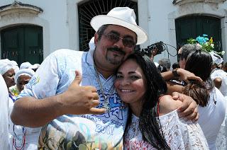 Apio e Moema em um dos muitos momentos de valorização da Cultura Afrobrasileira