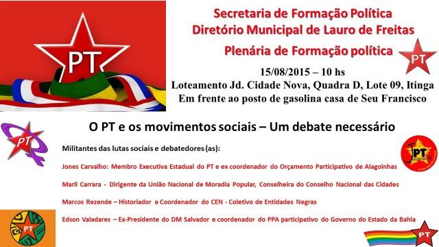 Convite formação política